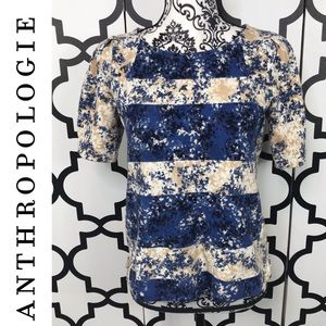 Anthropologie Postmark Short Sleeve Top